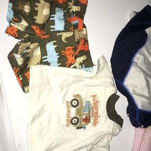 Newborn boys swim trunks & shirt